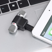 Portable Mini Stereo Recording Microphone Mic With 3.5mm Mini Jack For PC Laptop Notebook Left and Right Channel(China)
