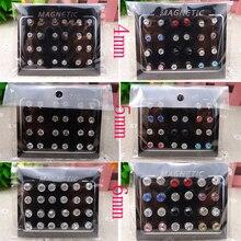 12 Pairs set 4 5 6mm Circle Crystal Rhinestone Magnet Stud Earring Magnetic 36ee8d8ffd6c