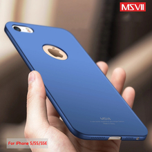 MSVII Case For Apple iPhone 5S Case iPhone SE Case Cover Luxury Full Protection Frosted PC Hard Protective Cover For iPhone 5(China)