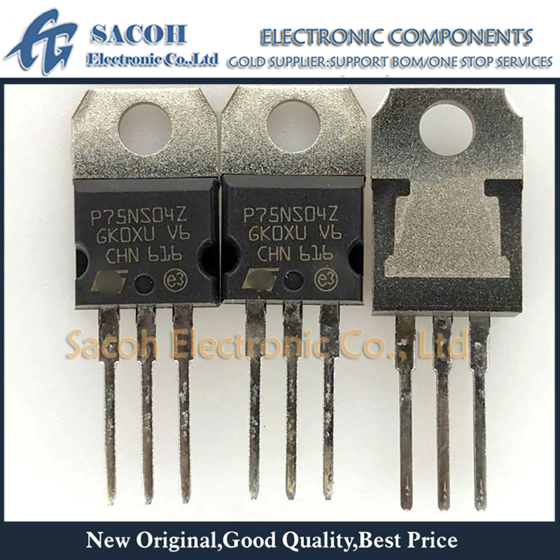 2pcs STP75NS04Z P75NS04Z MOSFET N-CH 33V 80A TO-220