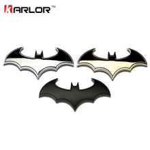 3D Cool Metal bat auto logo car styling car stickers metal batman badge emblem tail decal motorcycle car accessories automobiles