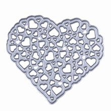 1PCS Hollow Out Steel Heart Cutting Dies Stencils For DIY Scrapbooking Photo Album Embossing Decorative Craft Folder Die Cut(China)