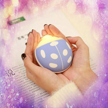 Creative Beatles Shape USB Winter Hand Warmer LED Night Light 3500mAh Power Bank Portable Charger External Battery Bank(China)