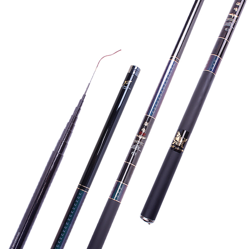 Ultralight super hard carbon fishing rod Stream rod carp fishing pole 3.6/4.5/5.4/6.3/7.2/8m short rod portable travel rod pesca<br>