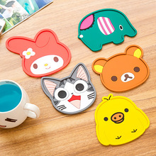 Cartoon Animal Drink Pads Elephant Silicone Coasters Creative Fashion Anti-scalding Cup Mat Free Shipping A08(China)