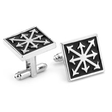 Wholesale 100Pairs/lot High quality 3D game Warhammer 40K chaos star French men Cufflinks Cuff buckle Zinc Alloy
