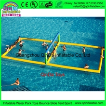 Wholesale Price 32.8ft*16.4ft inflatable water volleyball court, inflatable volleyball field for adult