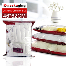 5 pcs 46x62cm Wholesale Embossed Slider Zipper Down Jacket Bags / PVC Thin Quilt Gag / Clear PVC Pillow Bags