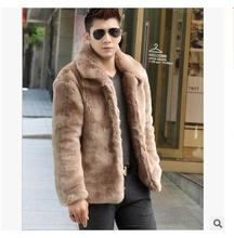 Free Shipping Men Faux Mink Fur Jacket Winter And Autumn Male Fur Overcoats Outwear Man Clothings Warm Coats Fur Jackets J1645-1