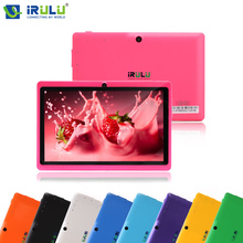 "iRULU eXpro X1 7""1024*600 HD Google APP Play Android 4.4 Tablet PC Quad Core 16GB ROM WIFI OTG With Black Keyboard Pink New Hot(China)"