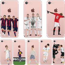 Football Star for iphone 5/5S/SE/6/6s/7/6 plus/6s plus/7plus Case Cool Soft TPU Cheap Fundas Silicone Transparent Phone Cover
