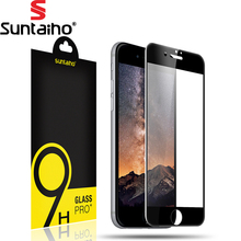 Buy Suntaiho 0.2mm Tempered Glass 7 Plus Screen Protector 3D Round Curved Full Cover Glass iPhone 7 Protective Film for $4.13 in AliExpress store
