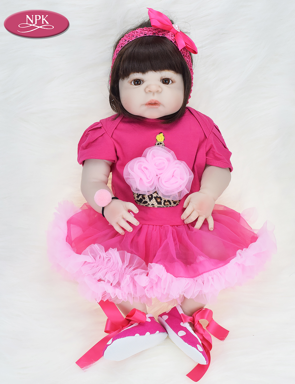 NPK 57CM Full Body Soft Silicone Girls Reborn Baby Doll Bathe Toys Lifelike Princess Girl Dolls Bebe Real Reborn Boneca Menina  (7)