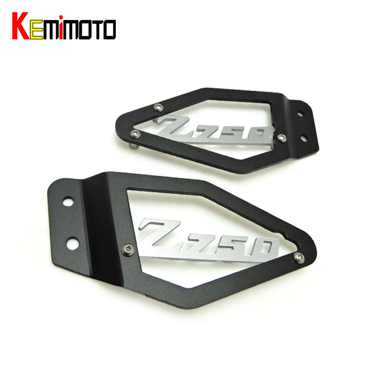 KEMiMOTO Z750 Foot Peg Heel Plates Guard Protector For Kawasaki Z750 2007 2008 2009 Motorcycle Accessories<br>