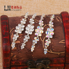 Manufacturers selling luxury fashion long earrings Korean crystal Tassel Earrings Jewelry wholesale wedding bride