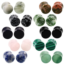 Swan Jo10 style Organic Double Flared Stone Ear Plug Guages Piercing Tunnels Ear Gauges Ear Tunnels Stretcher Expander