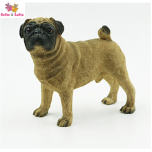 Quality pug dog artificial figure,real like car styling decoration,Christmas gift toy doggy,lovely puppy pet cake decorations(China)