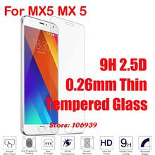 New Explosion Proof Cheap 9H 2.5D 0.26mm Phone Cell LCD Display Accessories Tempered Glass Verre For Meizu Mezu MX5 MX 5