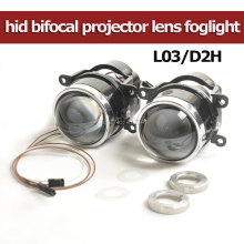 Newest LEADER Bixenon Projector Lens Fog Lamp Bright as HL L03 with HID Bulb D2H Waterproof Special Used for Many Cars(China)