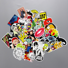 10PCS/lot Mixed Funny Hit Stickers Toys For Kids Home Decor On Laptop Sticker Decal Fridge Skateboard Doodle Stickers Toy TZTH11