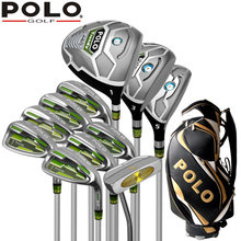 Genuine POLO New Golf Complete 11PCS Clubs Set and Standard Bag High Quality Putter Wood Iron Men Golf Stainless Ball Package