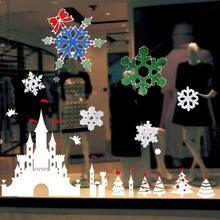 Christmas Snowflake Wall Sticker Silicone Glass Sticker Large Window Door Decor Gift Shop Window Decoration Snow Wall Stickers(China)
