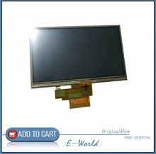 Original 5inch For TomTom Tom Tom VIA 115 125 GPS LCD display screen with touch screen digitizer panel free shipping