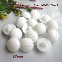 250pcs 15mm white shank mushroom plastic decorative buttons for sewing craft accessories products