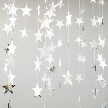 ZLJQ Mirror Star Christmas Ornaments Creative DIY Gold/Silver Star Xmas Tree Decorations New Year Party Window Layout 6D(China)