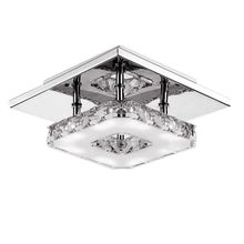 Modern Crystal LED Ceiling Pendant Lamp Stainless Steel Fixture Chandelier Light for Room Hallway Deration