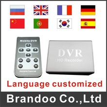 one channel Mini DVR support sd card Real-time recording,MPEG-4 video compression DVR,for cctv used(China)