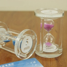 Crystal hourglass timer glass crystal gift birthday gift fashion office decoration