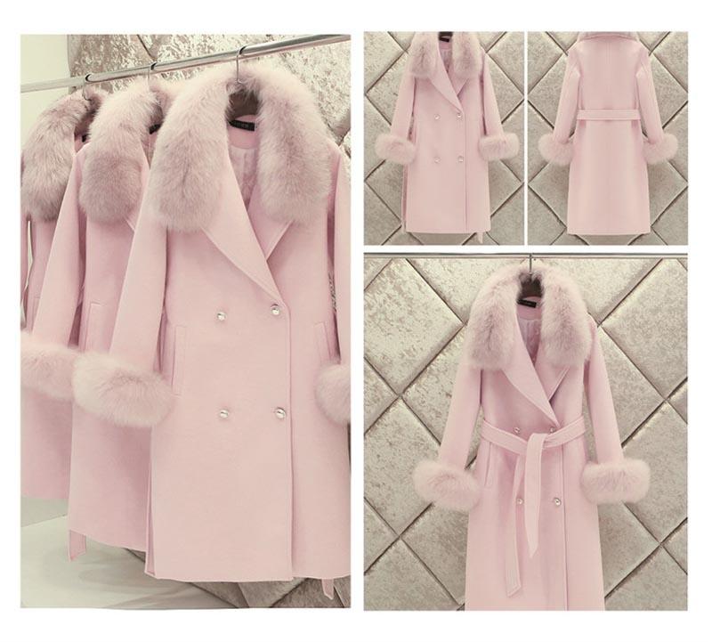 fox fur cuffs on coat