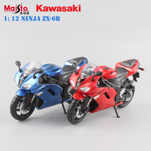 1/12 Scale Maisto kawasaki Ninja ZX-6R Die casting metal cars motorcycle Racing Bicycle models collection boys toys for kid 2017