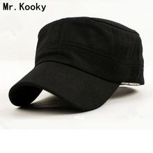 Mr.Kooky Hot Fashion Spring Summer Autumn Men Women Army 100% Cotton hats Flat Top Baseball Caps Sun Gorroas Adjustable