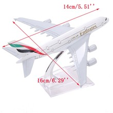 Brand New Airbus380 Emirates Airlines A-380 Aircraft  Aeroplan 16cm  High Simulation Diecast Model United Arab Emirates A380