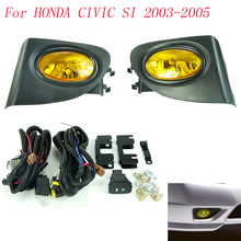 Fog light for HONDA CIVIC SI 2003 2004 2005 fog lamps Clear / yellow / Smoke Lens Bumper Fog Lights Driving Lamps