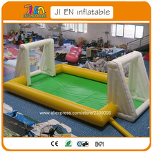 Free shipping inflatable soapy soccer arena / inflatable game for children / commercial inflatable football filed with flooring