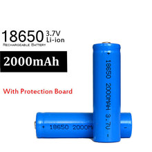 4pcs For Flashlight LED 18650 2000mah Battey 3.7v Li-Ion Battery Lithium Rechargeable Up to 500 TIMES Batteries Model 18650(China)