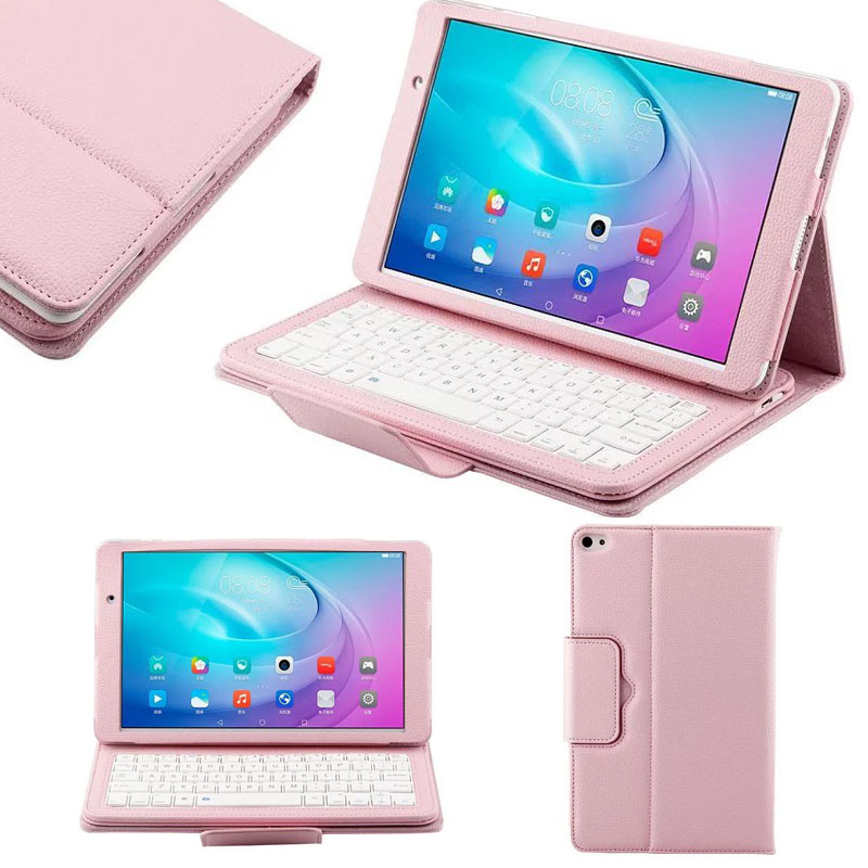Luxury PU Case Cover with Detachable Bluetooth Plastic Keyboard For Huawei MediaPad M2 10.1 FDR-A01W FDR-A03L T2 Pro 10 Tablet<br>