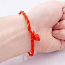 Red Thread Amulet 5pcs/Lot Jewelry for Female Fashion Chinese Red Luck Rope Cord String Bracelet Bangle Friendship 20cm(China)