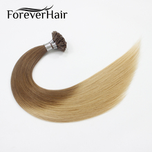 "FOREVER HAIR 0.8g/s 20"" Remy Nail Tip Human Hair Extension Ombre Color #T8/16 Keratin U Tip 100% Human Pre Bonded Hair Extension"
