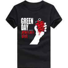 green day t-shirt green day american idiot funny printed short sleeve t-shirt US plus size S-3XL factory wholesale