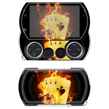 Free drop shipping Customizable OEM fire playing card protective skin for Sony PSP Go Skin Stickers #TN-PGO-500(China)