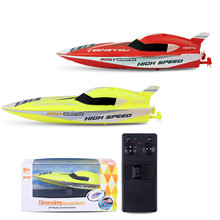 meibeile 2.4G Children Toys 4 Functions Mini Remote Control Speedboat RC Boat for Boys Kids Xmas Gifts Educational Outdoor(China)