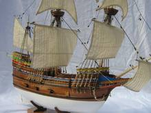 NIDALE Model Scale 1/50 Classic Britain continent immigrants Pioneer ship model kits May flower 1620 wooden sailboat
