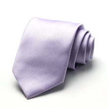 Free Shipping Cheap 2013 south korean silk commercial formal tie marriage tie 8cm tie lavender fine stripe