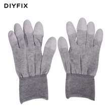 DIYFIX 1 Pair ESD Safe Gloves Anti-static Anti-skid PU Finger Top Coated for Electronic Repair Works(China)