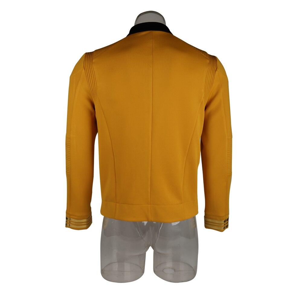 New 11 Star Trek Discovery Season 2 Starfleet Captain Kirk Shirt Uniform Badge Costumes Men Adult Halloween Cosplay Costume (6)