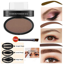 LEEZI 1993 High Quality Newest 9 options Professional Natural Eyebrow Stamp Beauty Makeup Tool EyeBrow Powder seal Quick Makeup(China)